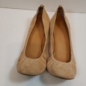 Jcrew suede flats with cinching size 8.5